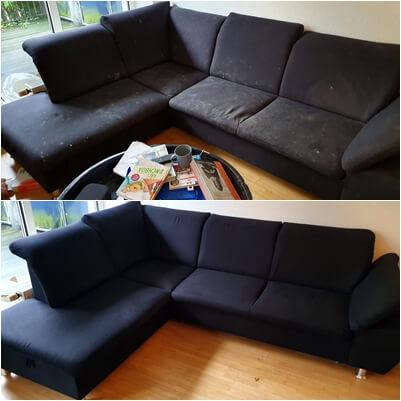 Sofa schwart vorher nachher